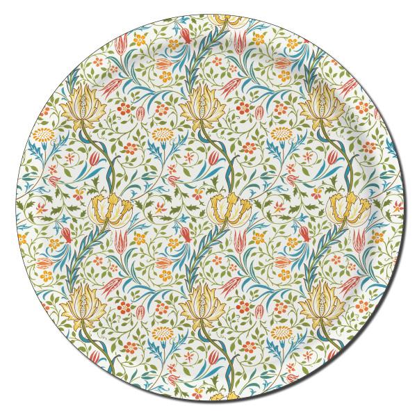 Åry Trays Tablett Flora William Morris 38cm, rund, Birkenholz