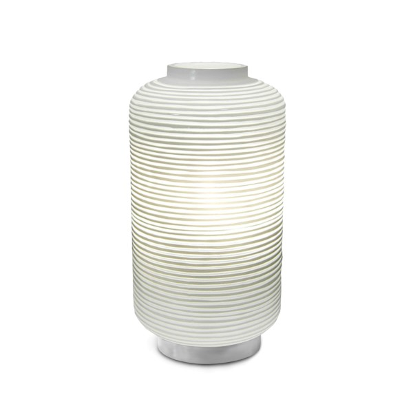 Tischlampe Yong 2, clear-opal, H 55cm