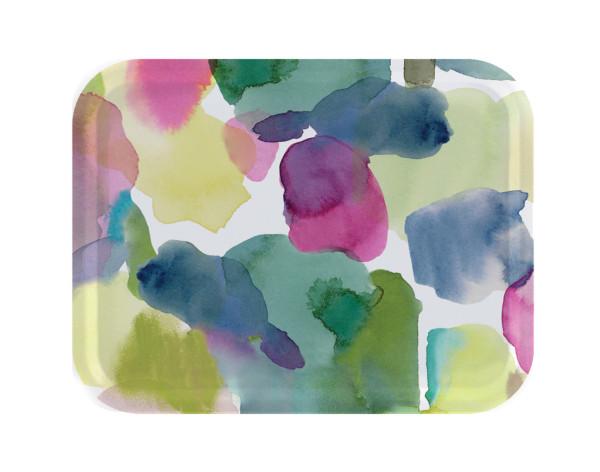 bluebellgray Tablett Rothesay 43 x 33 cm, Birkenholz, bunte Punkte
