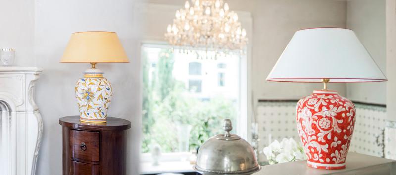 exklusiv handgemalt tischlampen aus italien ambiarte. Black Bedroom Furniture Sets. Home Design Ideas