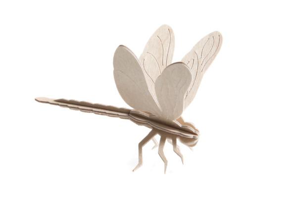 Lovi  3D Libelle 10 cm natur Postkarte Birkenholz zum slbstbemalen DIY
