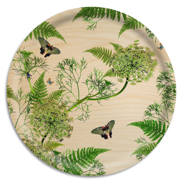 Åry Trays Tablett Dill Natural Birch 38 cm, rund, Birkenholz