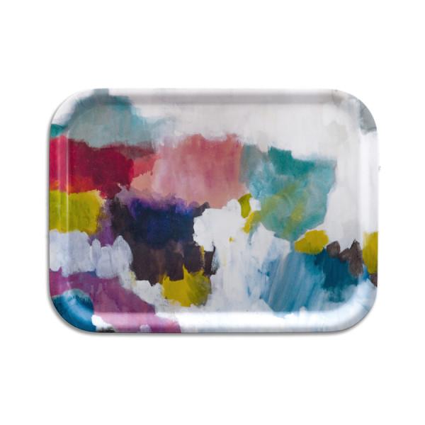 bluebellgray Tablett Nevis 27 x 20 cm, Birkenholz, bunte Farbpalette