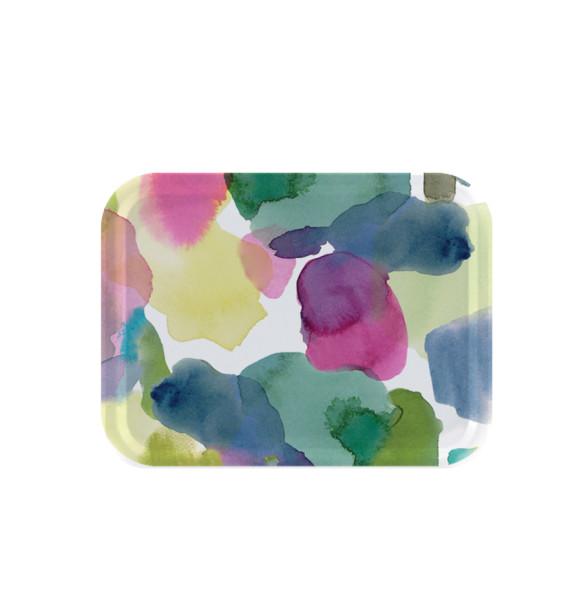 bluebellgray Tablett Rothesay 27 x 20 cm, Birkenholz, bunte Punkte