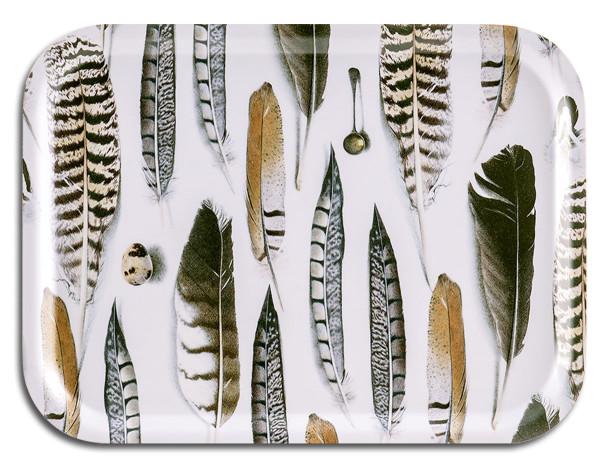 Tablett Feather White 27 x 20 cm