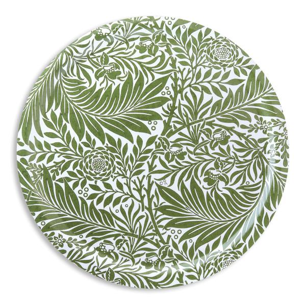 Åry Trays Tablett Larkspur von William Morris 49 cm, rund, Birkenholz